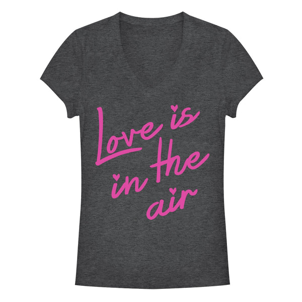 Valentine's Day Love Is In The Air Juniors Graphic V Neck | Tees