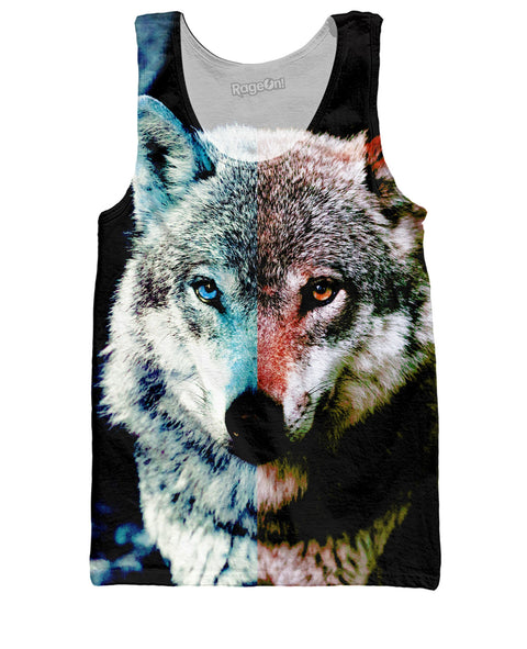 Two-Faced Wolf Tank Top | Tank Tops