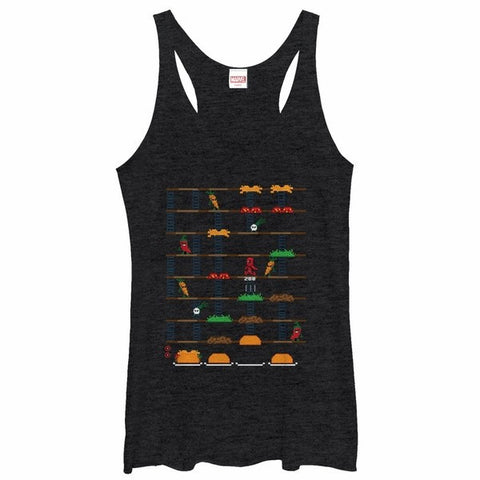 DEADPOOL TACO GAME SCREEN TANK TOP JUNIORS TANK | tank
