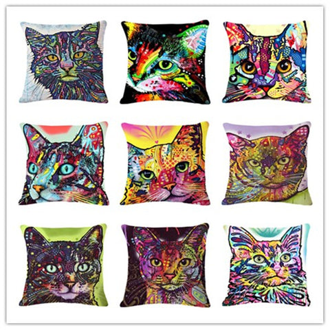 Cats Series Pillow Covers - Dean Russo Art | Cushion
