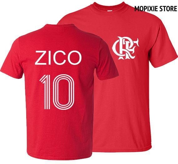 Zico T Shirt Brazil Flamengo Udinese Footballer Legend Men T-Shirt