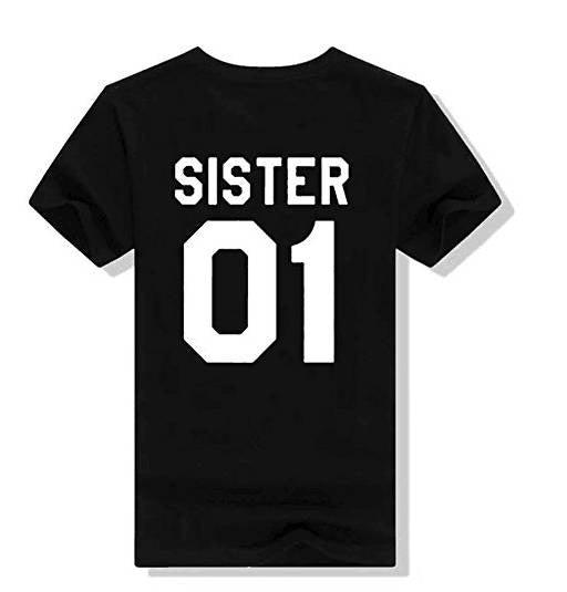 Family Matching Outfits BROTHER SISTER 01 Letters Print T-shirt
