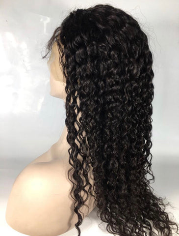 13x6 Natural Curly Lace Front Wig