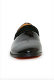 black patent leather shoe - front view