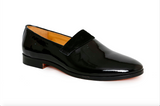 black patent leather shoe - angle view