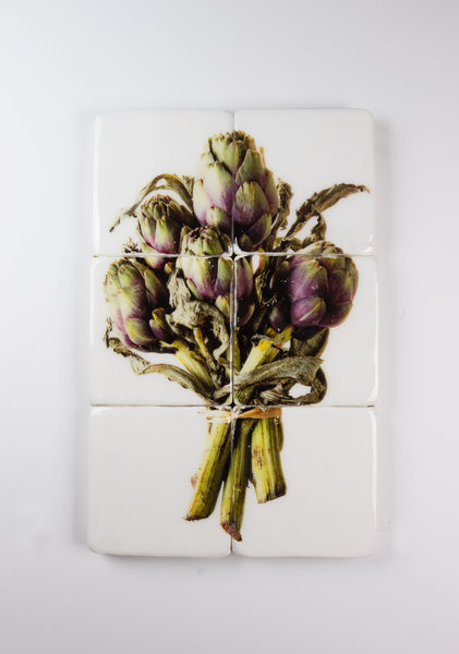 Bunch of purple artichokes (40cm x 60cm)