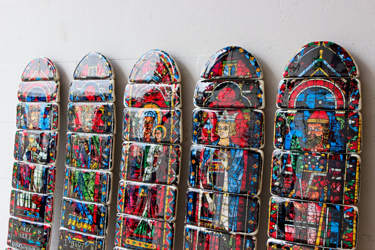 Chartres cathedral skateboard decks (North rose)