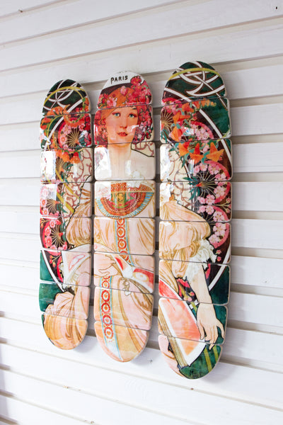 Mucha Paris skateboard decks