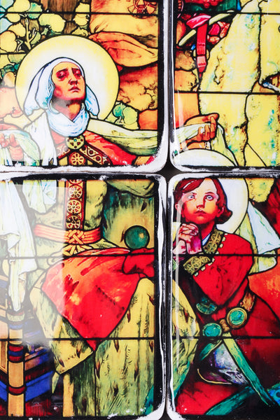 Mucha stained glass decks (60cm x 80cm)