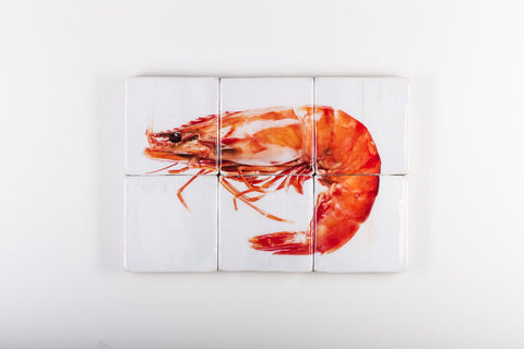 Cooked giant shrimp (60cm x 40cm)