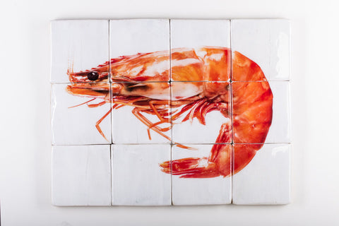 Cooked giant shrimp (80cm x 60cm)