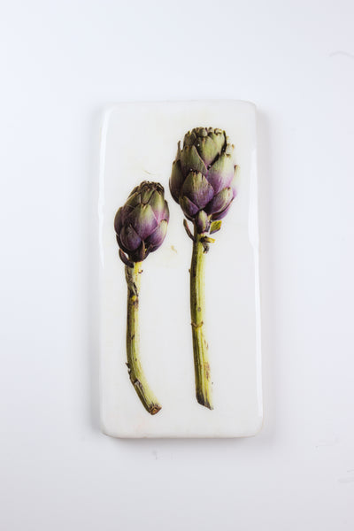 Two purple artichokes (20cm x 40cm)
