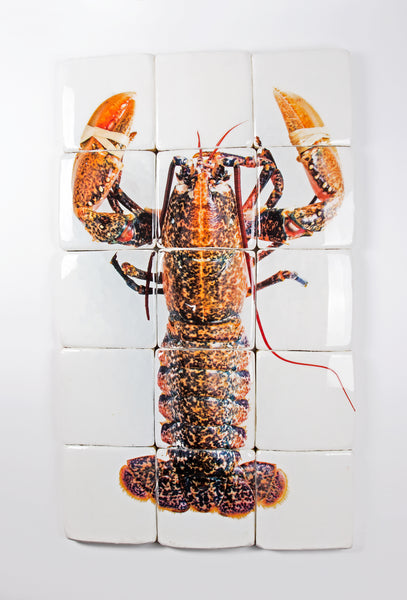 Yellow european lobster ((60cm x 100cm)