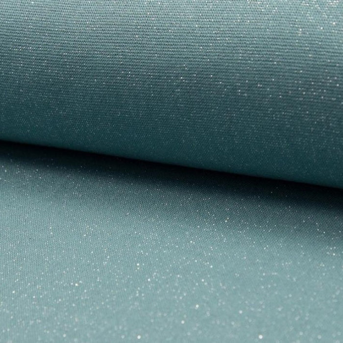 Bord côte Lurex - Dusty mint silver