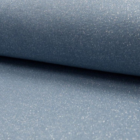 Bord côte Lurex - Dusty blue silver