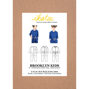 Pochette patron de couture BROOKLYN KIDS Combi 3-12