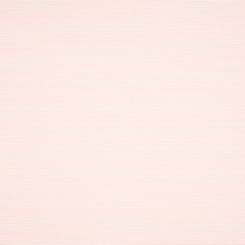 Coupon Jersey stretch- micro Rayure 1mm- Rose/Blanc