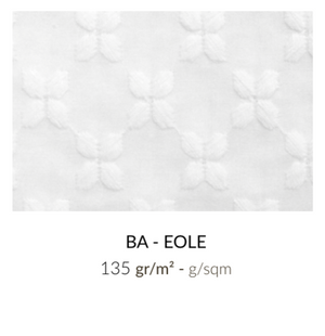 Coupon Tissu broderie anglaise- Eole - Blanc cassé
