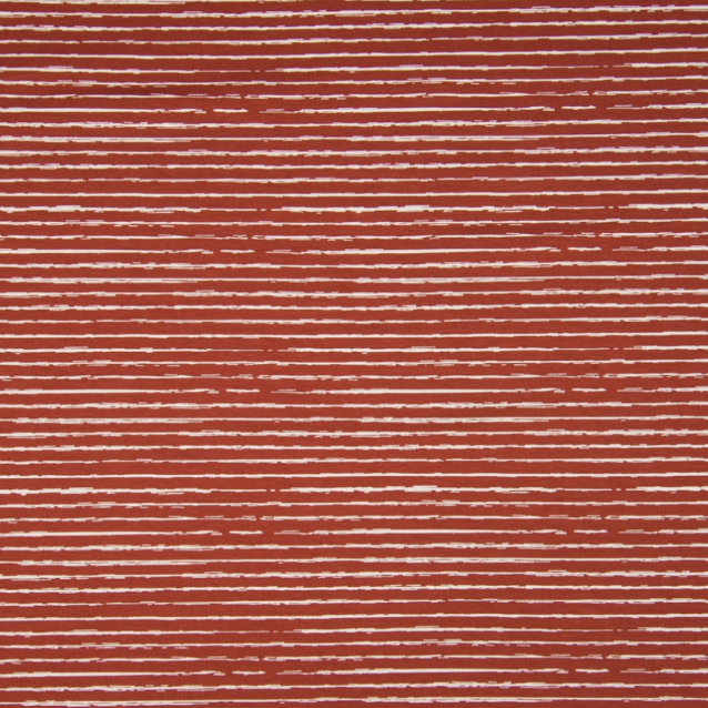 Jersey stretch - rayures Scratchy - Terracotta