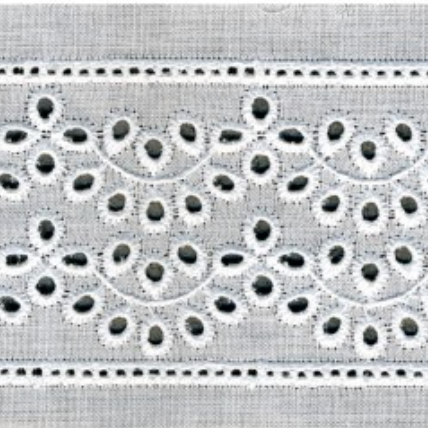 Galon de broderie anglaise 57mm - Albane