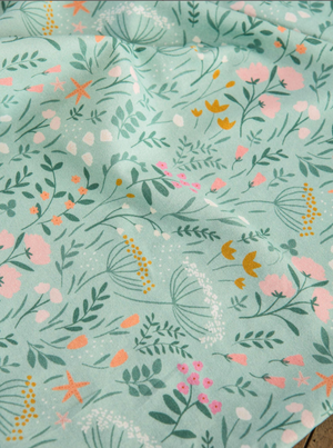 Jersey stretch Lise Tailor - In the bloom - Vert