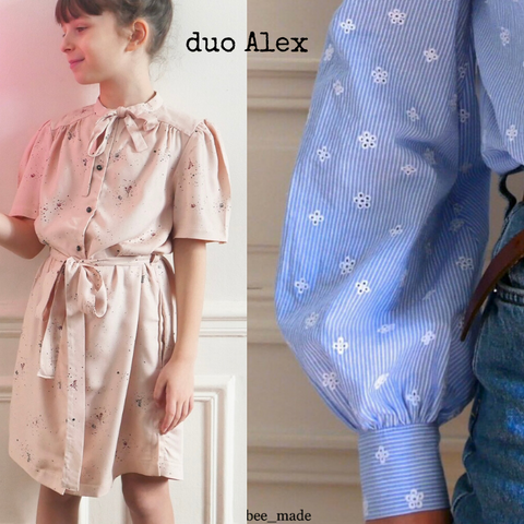 Duo Alex Kids/Mum - Blouse or Dress - PDF Sewing Pattern