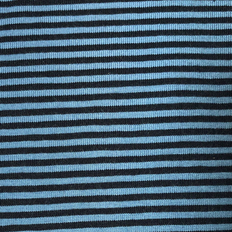 Jersey stretch- Rayure - marine/blue