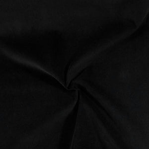 Coupon Tissu Velours ras - Coton Stretch - Black