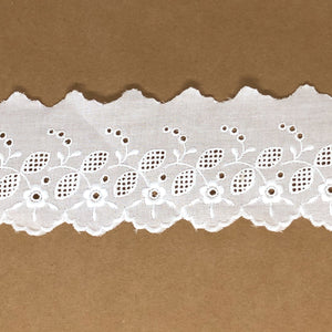 Galon de broderie anglaise 55mm Alice