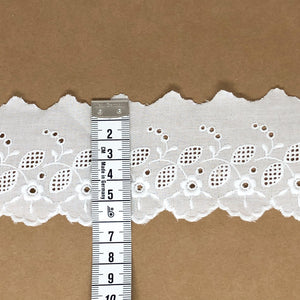 Galon de broderie anglaise 55mm - Alice