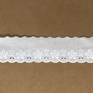 Galon de broderie anglaise 38mm Angèle