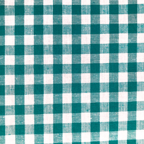 Tissu Vichy carreaux moyens - Turquoise