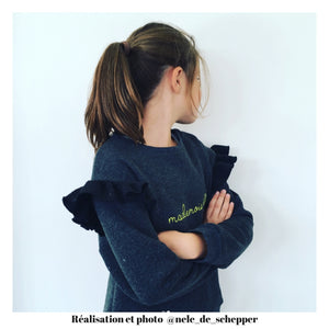 Pochette patron de couture JASMIN Sweat / Robe Enfant Fille 3-12A