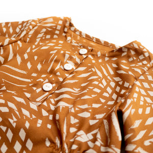 Coupon Tissu viscose ©Atelier Brunette - SHADE - Ochre
