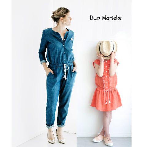 Duo Marieke Kids/Mum- Jumpsuit, playsuit & dress - PDF Sewing Pattern