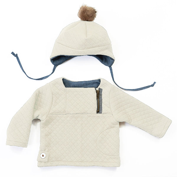 Patron de couture HUGO Ensemble sweat bonnet mixte 6M-4A  PDF