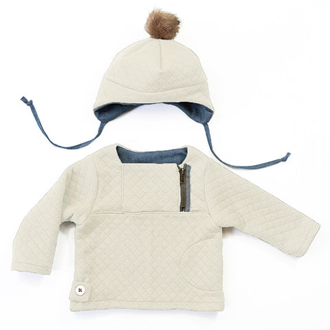 Patron de couture HUGO Ensemble sweat bonnet mixte 6m-4a