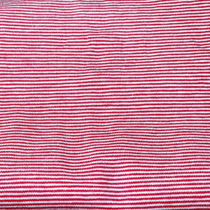 Jersey stretch - Micro Rayure 1mm - Rouge/Blanc