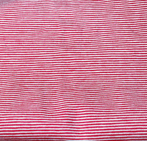 Coupon Jersey stretch- micro Rayure 1mm- Rouge/Blanc