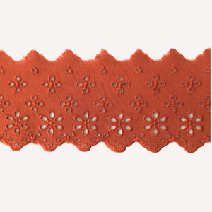 Galon de broderie anglaise 63mm - Rust