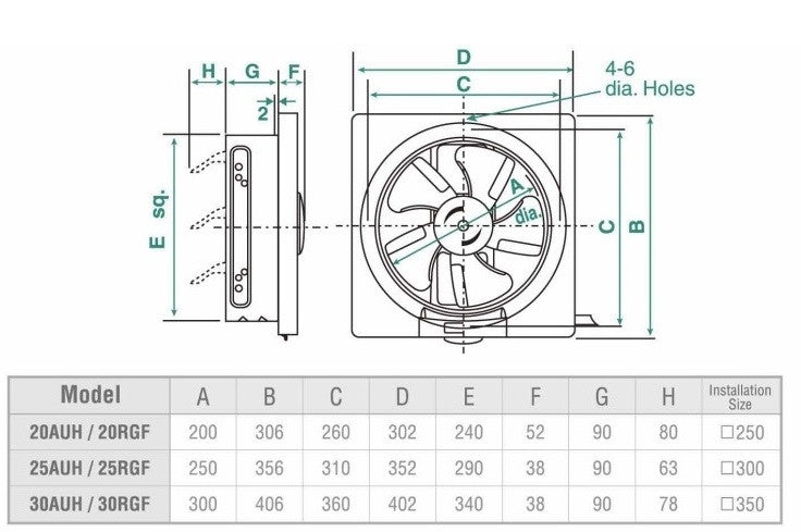 Kdk Wall Mounted 25cm 10 Quot Ventilating Fan 25auh Hong