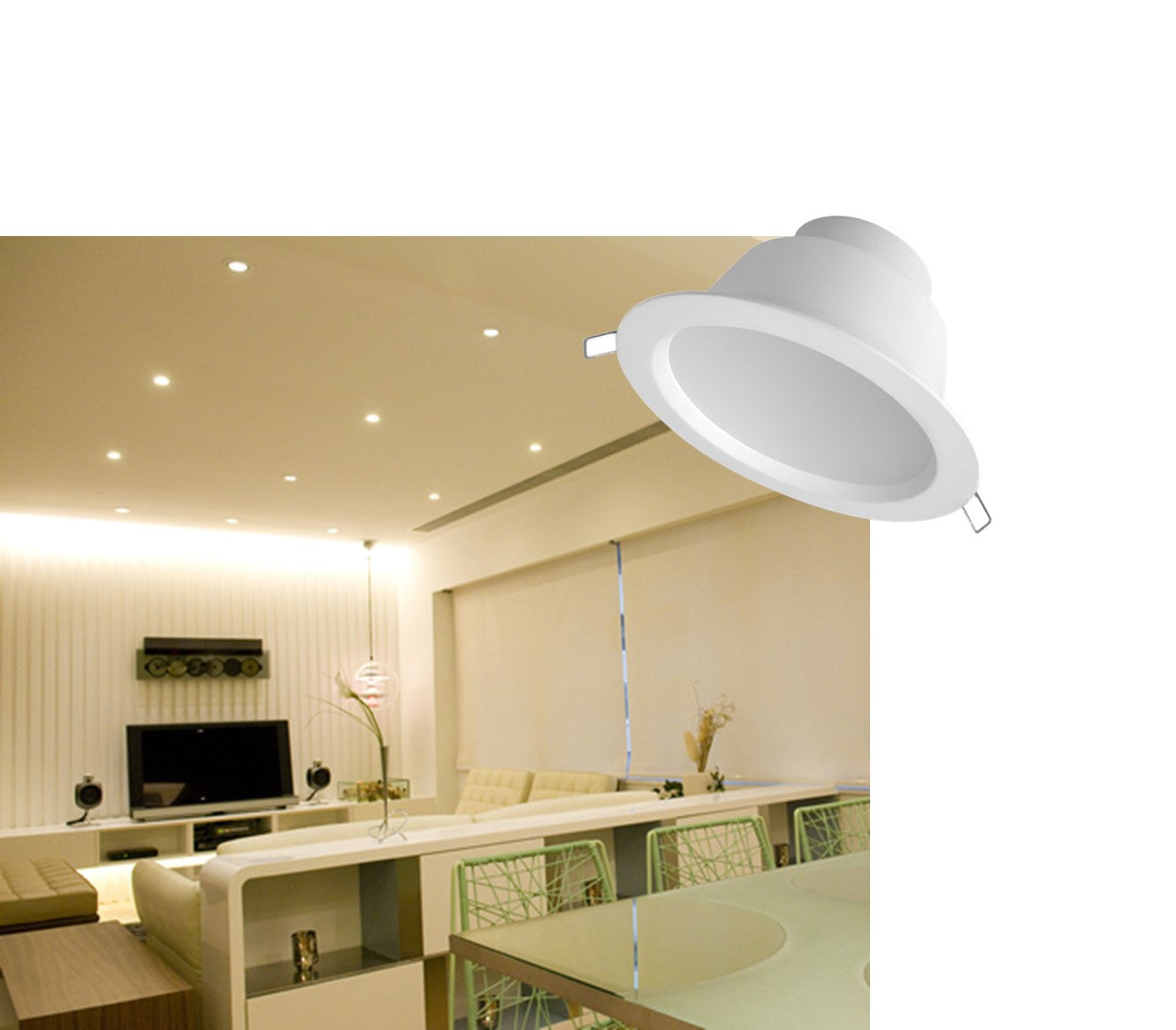 Megaman led integrated 5 square recessed downlight 12 5w f51400rc