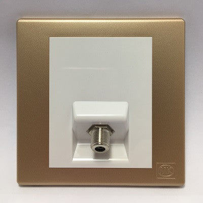Mk Avant 1 Gang F Type Tv Socket Outlet K63529 Hong