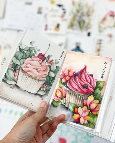 16 Feb - Watercolor Desserts & Cupcakes