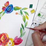 Watercolor Workshop (Floral Hoop / Beginner's Class)