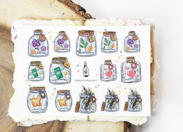 Mini Jars (Mini Sticker Sheet)