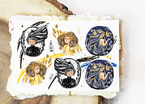 Whimsical Portraits I (Mini Sticker Sheet)