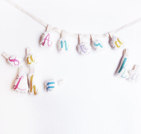 Rainbow Name Garland