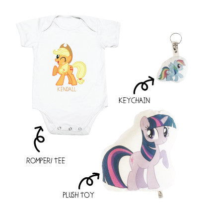 My Little Pony (Romper/ Tee + Plushie + Keychain set)