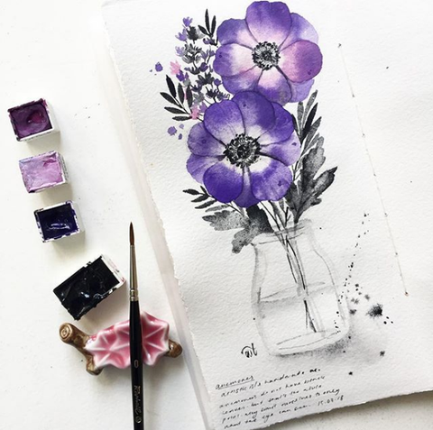 17 March - Watercolor Florals in a Jar @ Cziplee